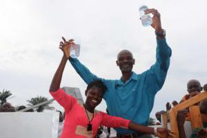 The Water Project: Lungi, Komkanda Memorial Secondary School -  Principal And Staff Member Celebrate