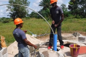 The Water Project: Lungi, Komkanda Memorial Secondary School -  Yield Test
