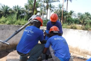 The Water Project: Lungi, Lungi Town, Holy Cross Primary School -  Drilling