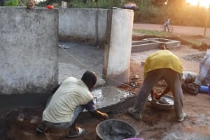 The Water Project: Lungi, Lungi Town, Holy Cross Primary School -  Pad Construction