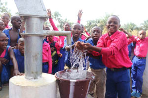 The Water Project: Lungi, Lungi Town, Holy Cross Primary School -  Students Playing At The Well