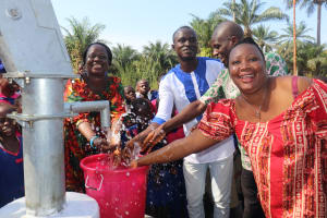 The Water Project: Lungi, Lungi Town, Holy Cross Primary School -  Teachers Celebrate