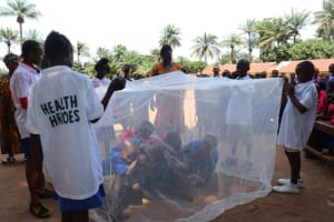 The Water Project: Lungi, Lungi Town, Holy Cross Primary School -  Teaching About The Importance Of Mosquito Nets