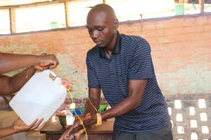 The Water Project:  Handwashing Demonstration Using Tippy Tap