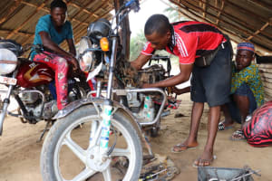 The Water Project: Sulaiman Memorial Academy Jr. Secondary School -  Motor Bike Garage