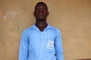 The Water Project: Sulaiman Memorial Academy Jr. Secondary School -  School Head Boy