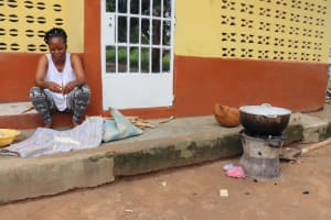 The Water Project: Lungi, Thomossoh, #24 Thullah Street -  Woman Cooking