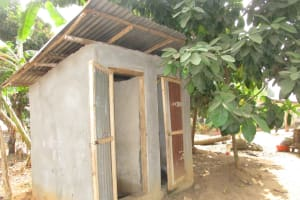 The Water Project: Lungi, International High School For Science & Technology -  Community Latrine