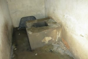 The Water Project: Lungi, International High School For Science & Technology -  Inside Community Latrine