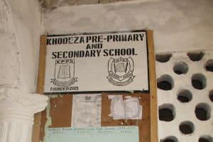 The Water Project: Lungi, Tardi, Khodeza Community School -  School Notice Board