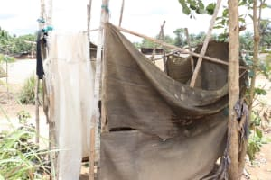 The Water Project: Kamasondo, Borope Village School -  Bath Shelter