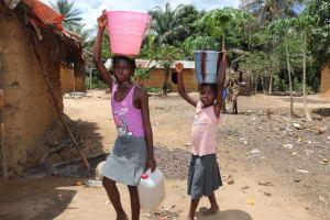 The Water Project: Kamasondo, Borope Village School -  Carrying Water