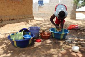 The Water Project: Kamasondo, Borope Village School -  Cleaning Dishes