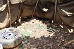 The Water Project: Kamasondo, Borope Village School -  Inside Bath Shelter