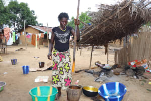 The Water Project: Kamasondo, Borope Village School -  Woman Process Palm Oil