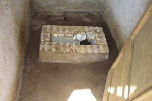 The Water Project: Lokomasama, Gbonkogbonko Village -  Inside Latrine