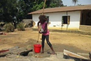 The Water Project: Lokomsama, Lumpa Wallah Village -  Kid Collecting Water