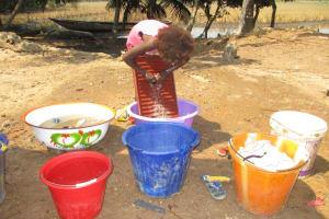 The Water Project: Lokomsama, Lumpa Wallah Village -  Laundrying