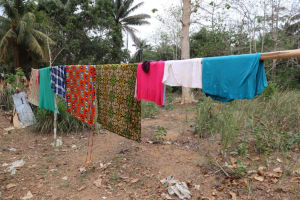 The Water Project: Kamasondo, Robombeh Village, Next to Mosque -  Clothes Line