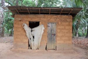 The Water Project: Kamasondo, Robombeh Village, Next to Mosque -  Latrine