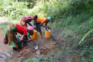 The Water Project: Lokomasama, Modia Dee -  People Collecting Water