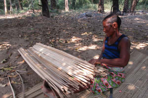 The Water Project: Lokomasama, Modia Dee -  Woman Making Local Mat