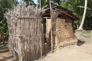The Water Project: Polloth Village, Loco Area -  Bath Shelter And Latrine