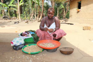 The Water Project: Polloth Village, Loco Area -  Woman Plucking Groundnut