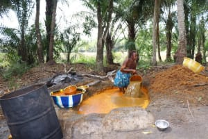 The Water Project: Polloth Village, Loco Area -  Woman Processing Palm Oil