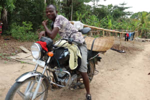 The Water Project: Kamasondo, Masinneh Village -  Motor Bike Driver