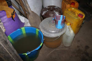 The Water Project: Kamasondo, Masinneh Village -  Water Storage