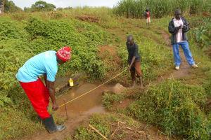 The Water Project: Kalenda A Community, Webo Simali Spring -  Foundation Measurements