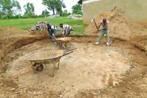 The Water Project: Bumbo Primary School -  Rain Tank Excavation