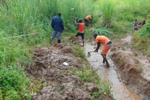 The Water Project: Musiachi Community, Mutuli Spring -  Site Clearance