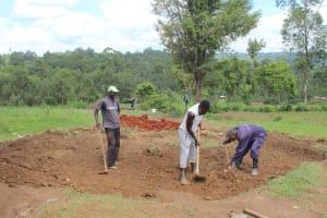 The Water Project: Bugute Lutheran Primary School -  Rain Tank Excavation