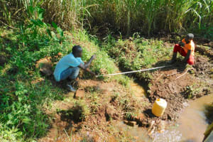 The Water Project: Namarambi Community, Iddi Spring -  Site Measurements