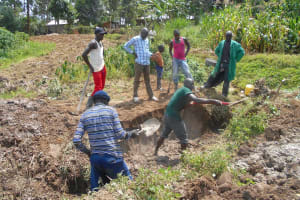 The Water Project: Kalenda B Community, Lumbasi Spring -  Excavation