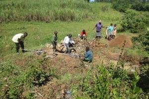 The Water Project: Tumaini Community, Ndombi Spring -  Site Measurements