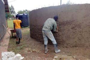 The Water Project: Chiliva Primary School -  Outer Cement Work