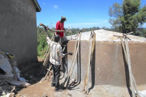 The Water Project: Bugute Lutheran Primary School -  Fitting Dome And Support Poles