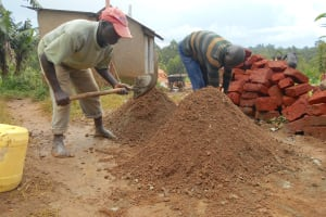 The Water Project: Bugute Lutheran Primary School -  Mixing Materials