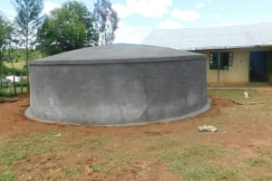 The Water Project: Khwihondwe SA Primary School -  Tank Sits Curing