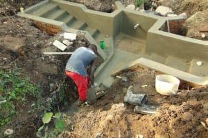 The Water Project: Mubinga Community, Mulutondo Spring -  Plaster Work