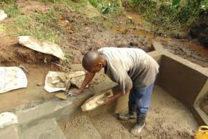 The Water Project: Maondo Community, Ambundo Spring -  Cement Work