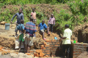 The Water Project: Tumaini Community, Ndombi Spring -  A Dedicated Group Of Helpers