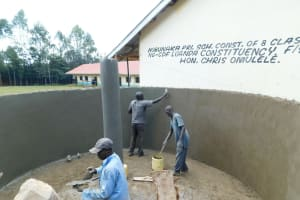 The Water Project: Hobunaka Primary School -  Interior Plaster