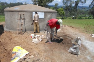 The Water Project: Bugute Lutheran Primary School -  Finishing Touches