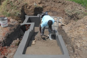 The Water Project: Kalenda B Community, Lumbasi Spring -  Cement And Plaster Work