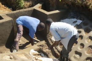 The Water Project: Tumaini Community, Ndombi Spring -  Cement Work