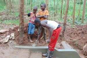The Water Project: Imusutsu Community, Ikosangwa Spring -  Stair Plaster